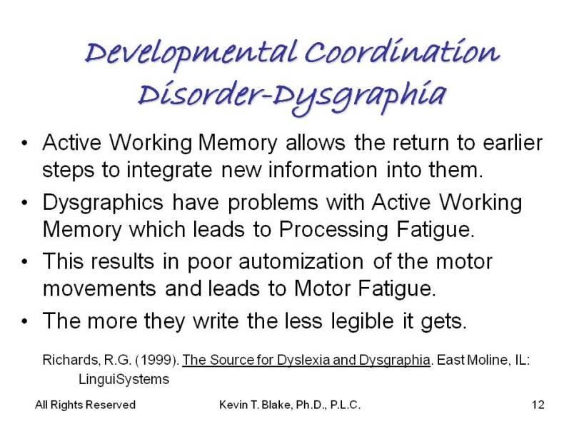 dysgraphia slide